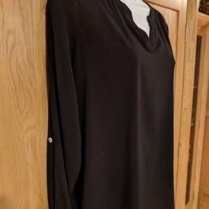 Susan Graver Tunic black size 8
